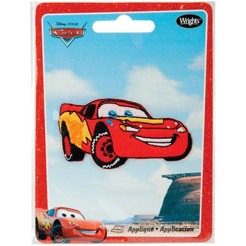 Disney Cars Iron-On Appliques-Lightning Mcqueen