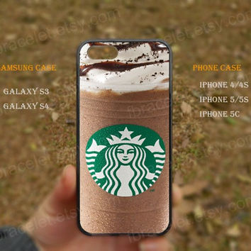 Ice cream,starbucks coffee,iPhone 5s case,iPhone 5C case,Samsung Galaxy S3,S4 Case,iPhone 5 Case,iPhone 4,4s case,water proof,Gifts