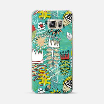 wired weed turquoise blue Samsung Galaxy S6 Edge+ case by Sharon Turner | Casetify