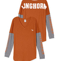 University of Texas Long Sleeve V-neck Tee - PINK - Victoria's Secret