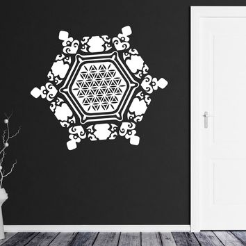 Large Wall Vinyl Decal Snowflake Water Crystal Flower Life Home Interior Decor (n828)