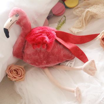 Free shipping 30CM Simulation Flamingo Plush Toy Cute Wildlife Bird Stuffed Toy Collection for birthday gift