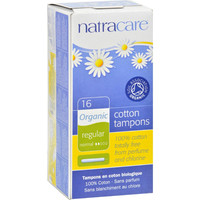 Natracare Organic Cotton Tampons Regular - 16 Tampons