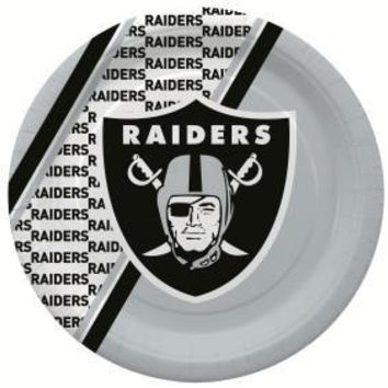RAIDERS DISPOSABLE PAPER PLATE - 20 PK