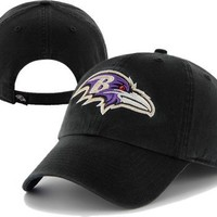 Baltimore Ravens '47 Brand Black Adjustable Cleanup Slouch Hat