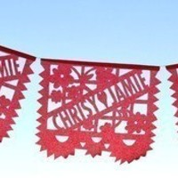 LOS NOVIOS 3Pack Custom Wedding Papel Picado Banners by aymujer