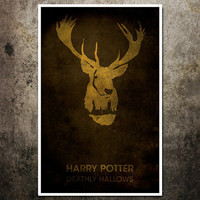 "Vintage Harry Potter Movie Poster - ""The Deathly Hallows"": 11x17 Fantasy Art Print"