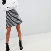ASOS PETITE Mini Flippy Skirt in Check at asos.com