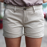 Ibiza Short Trouser {Khaki} by DEX Jeans
