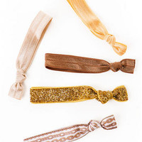 Kitsch Golden Goddess Hair Ties - Francescas