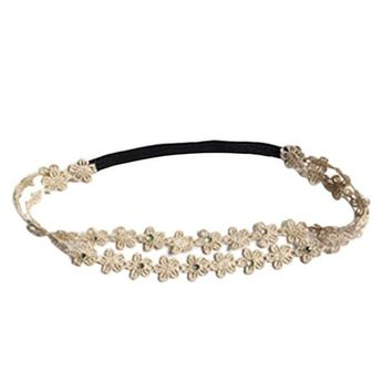 Rhinestone Hair Band Flowers Korean Hair Accessories Girls Summer Style Hairbands Hair Accesories Accessori Capelli#121