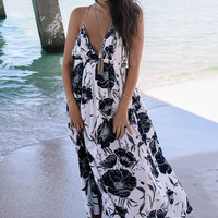 Force Of Nature Ivory Floral Print Maxi Dress