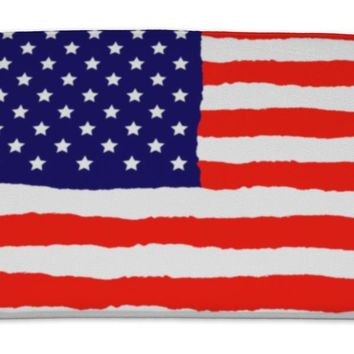 Bath Mat, Grunge American Flag For Independence Day