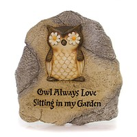Home & Garden Owl Garden Stone Outdoor Decor