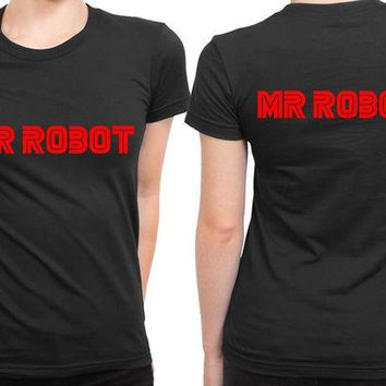 VONEED6 Mr Robot Title 2 Sided Womens T Shirt