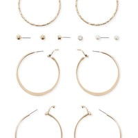 Assorted Stud and Hoop Earring Set