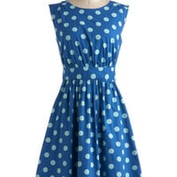 Too Much Fun Dress in Blue Dots | Mod Retro Vintage Dresses | ModCloth.com
