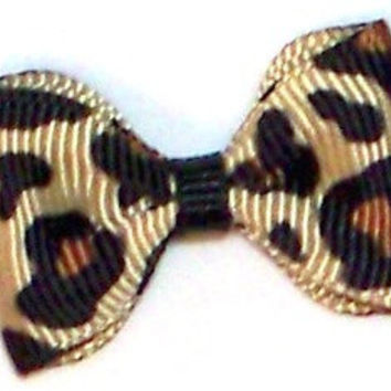 Leopard bow tie dog bows, dog accessories.
