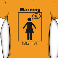 Warning: Talks math (skirt) Women's T-Shirt