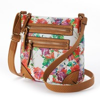 Apt. 9 Bailey Floral Crossbody Bag (Orange)