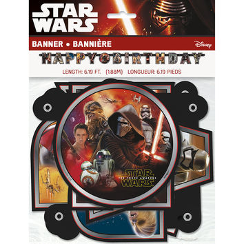 Star Wars The Force Awakens Jointed Birthday Banner