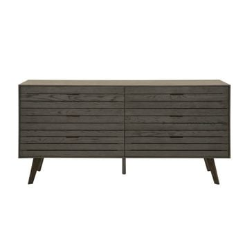 Mesa Double Dresser Carbon Oak | Black Nickel