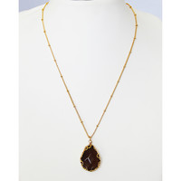 Brown Pebble Necklace
