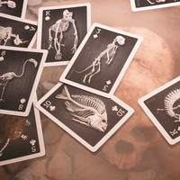 Skeletons Playing Cards