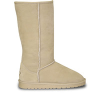 Women's 13-inch Cow Suede Boots - Natural