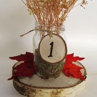 Rustic Wedding Numbers, Dinner Party Number, Table Number Wedding, Christmas Party, Wooden Numbers