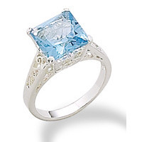 Light Blue Glass Ring
