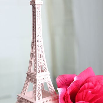 Baby Pink Paris Eiffel Tower Cake Topper