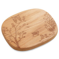 Eco-Friendly Creature Comfort Foods Cheese Board in Birds by ModCloth