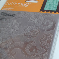 Heather's Lace Cuttlebug Embossing Folder,Embossed Lace Art,Cuttlebug 5 x 7 Embossing Folder,Lacy Flower Embossing,Lace Paper Design,Lacy