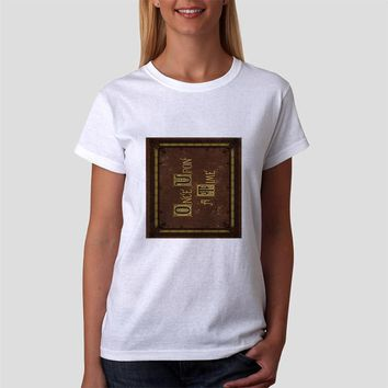Classic Women Tshirt Once Upon A Time Book