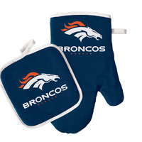 Denver Broncos Oven Mit & Pot Holder