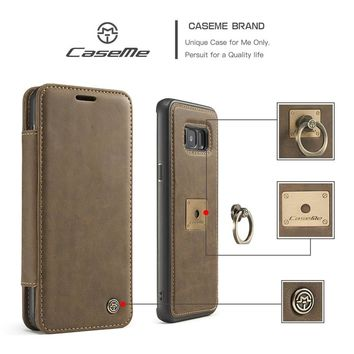 Genuine Leather Wallet For Samsung Galaxy S8 Case Cover Flip Cov