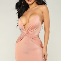 Late Night Party Dress - Mauve