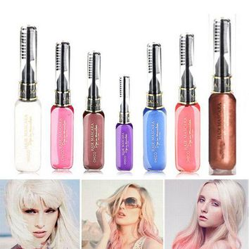 ONETOW Portable Temporary Color Hair Dye Mascara Non-toxic Hair Mix Color Dyeing Salon Stick SSwell