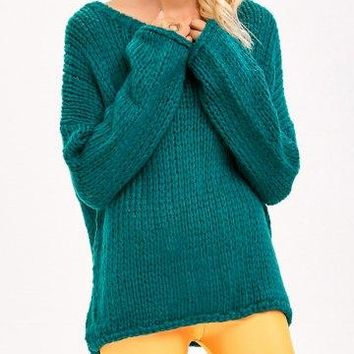 Loose Drop Shoulder Chunky Sweater