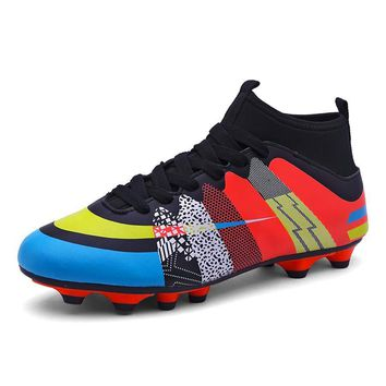 Soccer Boots\Shoes Sports For Man Indoor Football shoes\Boot 3 Color PU Boy Sneakers Men