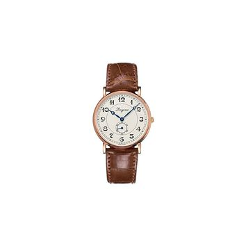 Longines Heritage Automatic 18kt Rose Gold Mens Strap Watch L4.785.8.73.2
