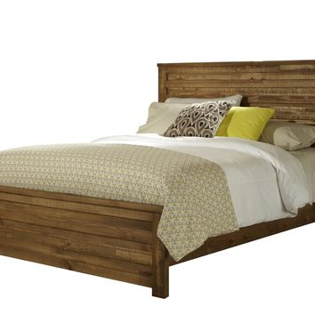 Melrose Transitional King Panel Complete Bed Driftwood