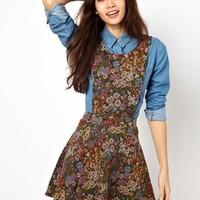 Max C Tapestry Pinafore Dress
