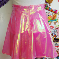 SHIMMER DOLL pink IRIDESCENT princess Barbie skater skirt <3