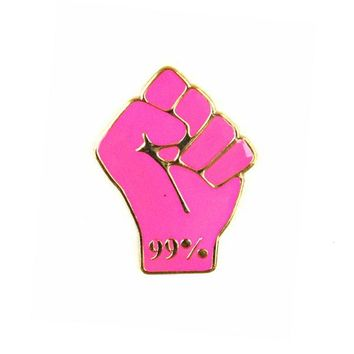 99 Percent Raised Fist Pin