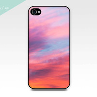 iphone case 4 4s sunset sky photography pink blue sky photo art iphone 5 case summer vibrant sky photography cell phone case smartphone