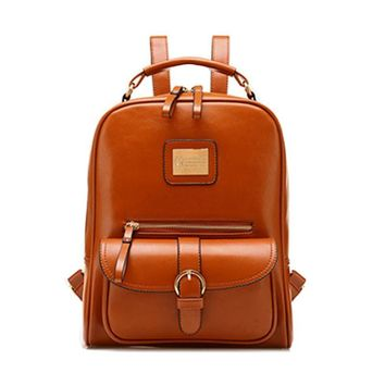 Backpacks Vintage PU Leather School