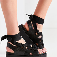 Ribbon Lace-Up Platform Sandal | Urban Outfitters
