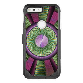 Round And Colorful Modern Decorative Fractal Art OtterBox Commuter Google Pixel Case